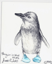 2010.6.2 Penguin in blue shoes